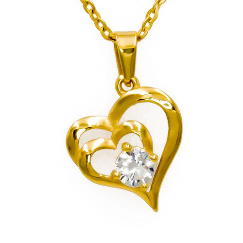 Olivia Gold Tone Heart Necklace