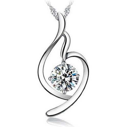 Soft Angel Lucky Necklace - Clear Cubic Zirconia