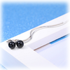Simply Elegance Ear Lines - Black Agate Drops