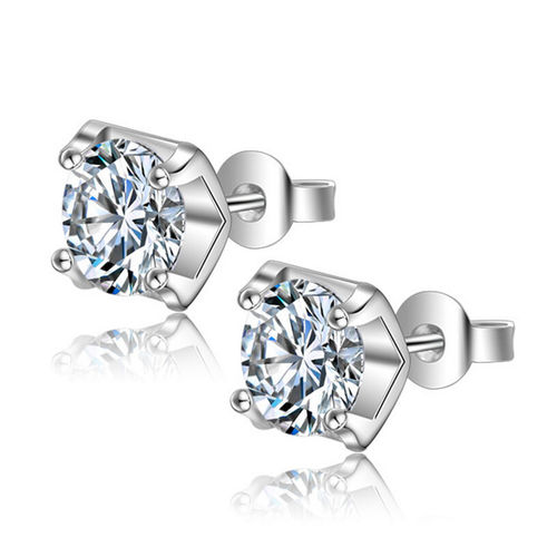 Four Claws Cubic Zirconia Stud Earrings