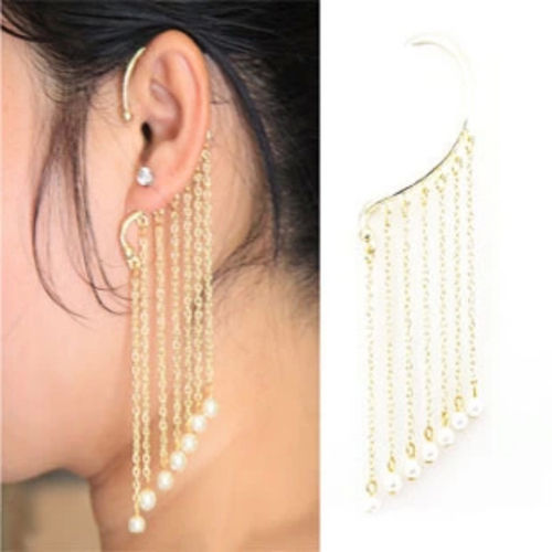 Punk Pearl Tassel Single Ear Hook