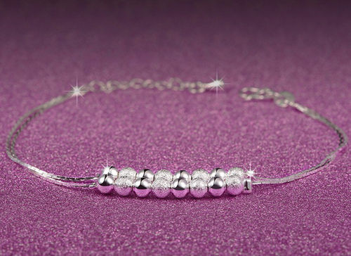 Sterling Silver Stardust Bead Charms Bracelet