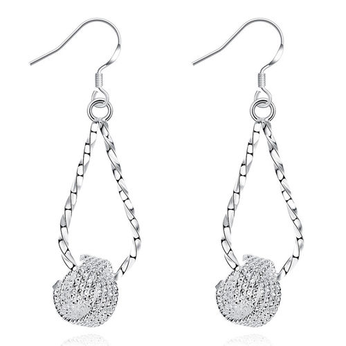 Love Knot Drop Earrings - S925 Silver