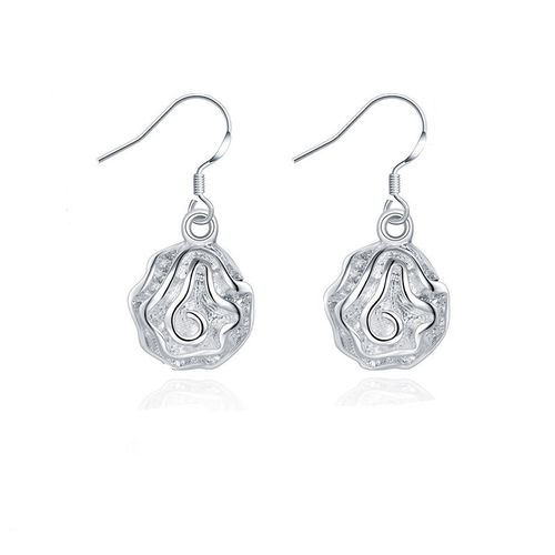 Rose Drop Earrings - S925 Silver