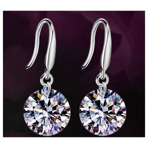 Handmade CZ Drop Earrings - S925 Silver