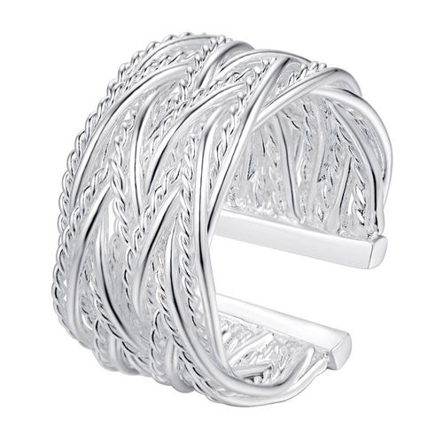 Sterling Silver Double Twist Ring - (S925) Silver